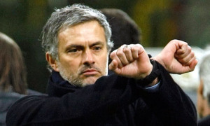 When Mourinho found out that they're making his team play 3 matchs in 6 days (You remember XPac's trademark sign in WWE?)