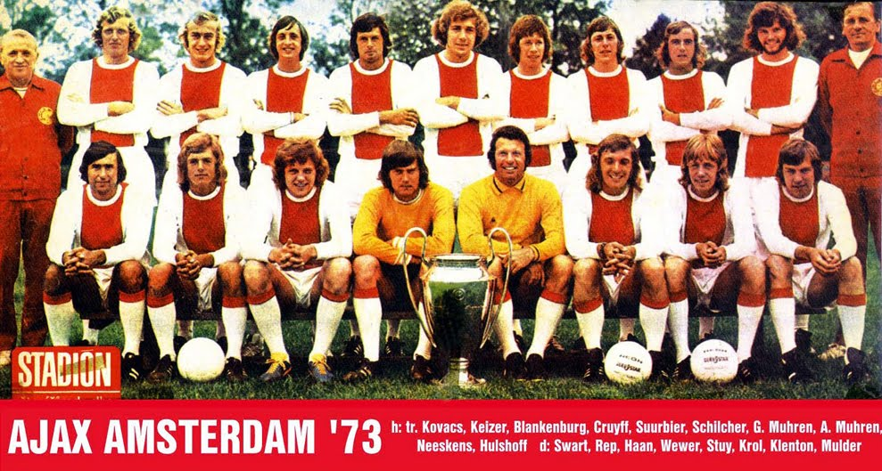 Total Football from Ajax in 1973